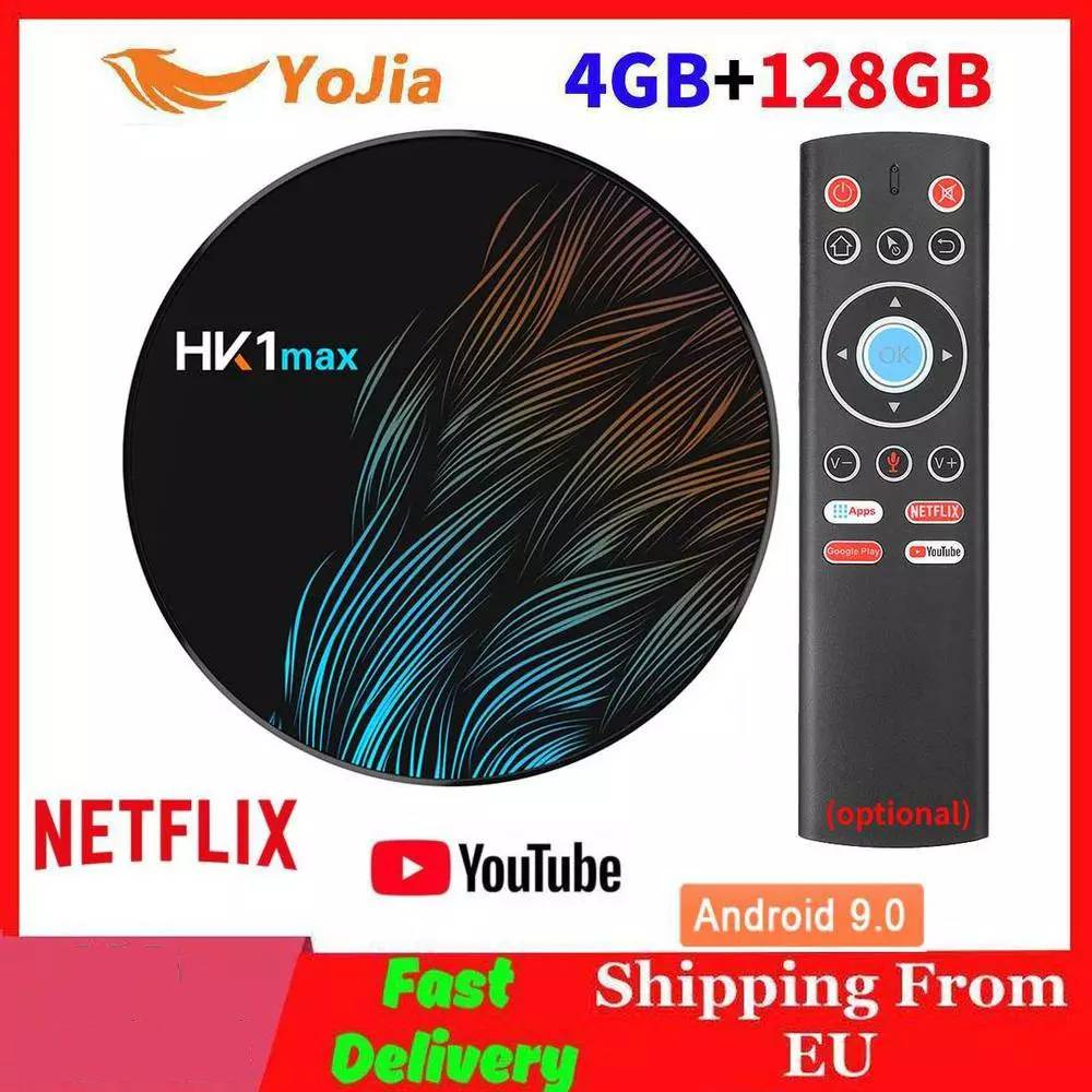 Smart TV BOX Android 9.0 TV BOX HK1 MAX RK3318 4GB RAM 128GB ROM 64GB Wifi 4K Media Player HK1MAX Set Top Box 1G/8G Youtube
