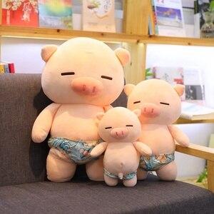 Scampish свинка плюшевые игрушки милая свинка мягкие Мультяшные Животные Кукла мягкая подушка для сна диван подушка для детей искусственные лу...