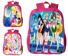 Rosa Anime Sailor Moon Kinder Rucksack Tsukino Usagi Schulkind Schul Kindergarten Satchel Schülerin Buch Tasche Mädchen Geschenke(China)