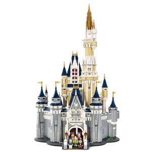 Image 3 - Cinderella Prinzessin Castle Set mickey minnie architektur Bausteine Bricks Kompatibel lepinglys 71040 mädchen Geburtstag Geschenke