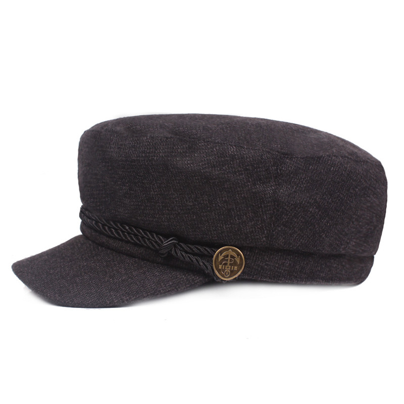 SILOQIN Autumn Winter Elegant Woman Fashion Keep Warm Military Hats Trend Men 39 s Flat Cap Unisex Leisure Tourism Brand Hat Gorras in Men 39 s Military Hats from Apparel Accessories