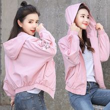 spring korean style women hoodies oversized clothes kawaii aesthetic cropped fall 2019 pink streetwear plus size autumn
