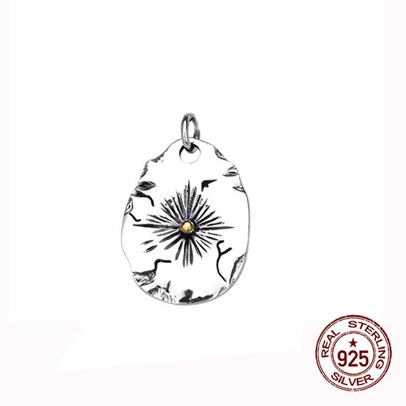 S925 pendentif en argent sterling bijoux personnalité rétro style indien plume volante aigle couple étiquette forme pour envoyer le cadeau de l'amant