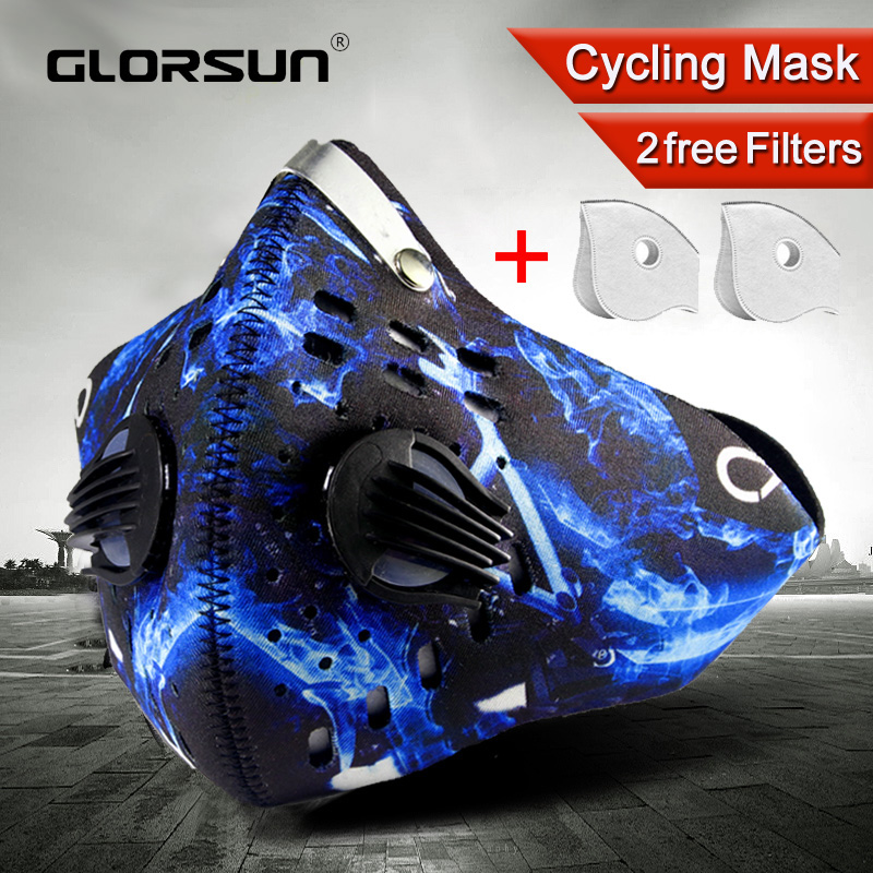 GLORSUN High Quality  Pm2.5 Dust Respirator Mouth Face Mask Wholesale  Smog Air Pollution Washable Smog Sport Mask