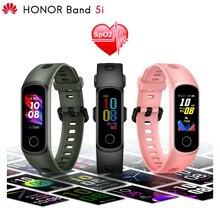 Huawei pulsera inteligente Honor Band 5i Original, reloj innovador con caras, Plug and Charge, monitoreo de la salud, oxígeno en sangre SpO2