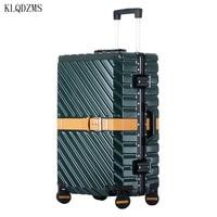 KLQDZMS Retro Reise Rädern Gepäck Trolley ABS 20''24''26''29 Zoll Mode Koffer Tragen Auf Spinner Räder