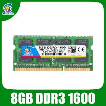 Ноутбук VEINEDA ddr 3 8 ГБ 4 ГБ ddr3 1600 МГц для ноутбука Intel AMD оперативная память Sodimm ddr3 1600 204pin