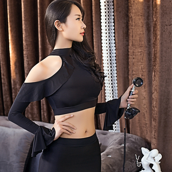 Office Secretary Cosplay Seduction Uniform Nightclub Party Tight Tops Hips Skirt Set High Elasticity Sexy See Through Woman Set 1