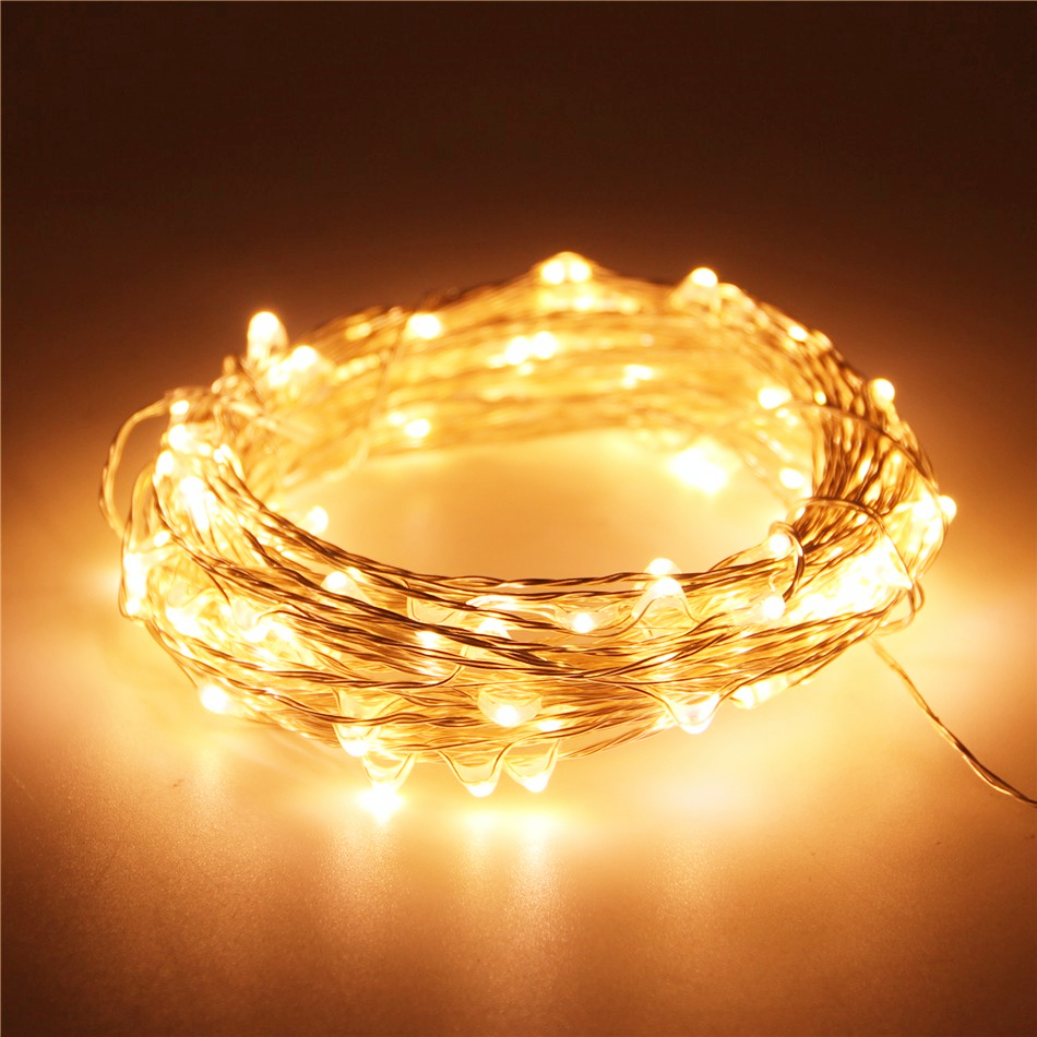 USB Holiday fairy lights garland on batteries LED string light decoration christmas outdoor festoon slingers curtain tinsel