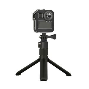 Image 3 - GoPro Max 360 액션 카메라 라이브 스트리밍 Vlog 부품 용 2 개의 콜드 슈 마운트가있는 알루미늄 합금 보호 케이지 표준 프레임