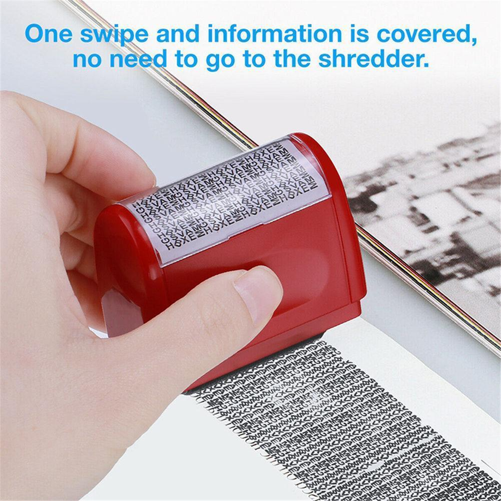 Roller Self Inking Stock Stamp Seal Theft Code Guard Tool Seal Confidentiality Ink Your ID Stamp File Office Refill Confide Q2L7