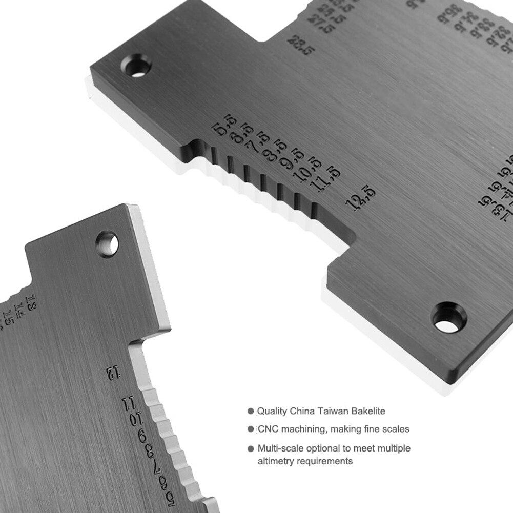 2Pcs Holzbearbeitung Höhe Gauge Metric Tiefe Gauge Für Holz Router Tabelle Elektrische Säge Zimmerei Mess Werkzeuge