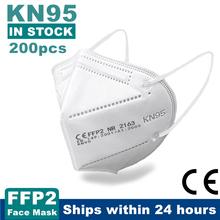 10-200 sztuk KN95 Mascarillas CE FFP2 twarzy maska 5 warstwy filtr dorosłych maski ochronne wielokrotnego użytku maska usta FFP2Mask KN95Mask tanie tanio Z Chin Kontynentalnych osobiste jednorazowe Adult Non-woven 70 Melt blown 30 10 5*15cm A011 EN 149-2001 + A1-2009 200pcs