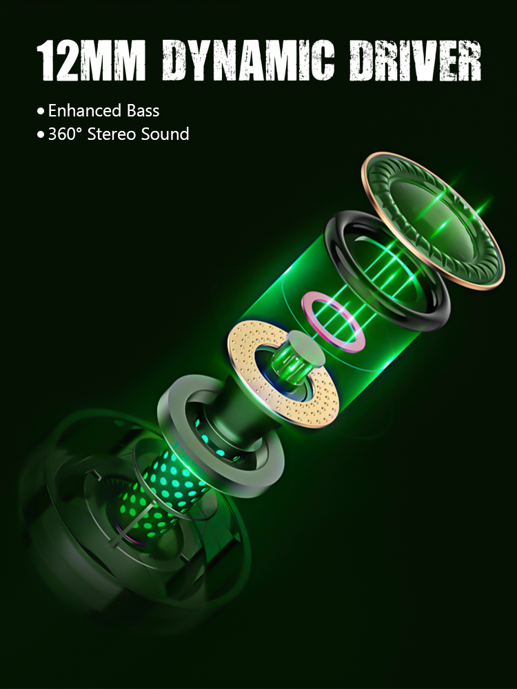 Zime Winner Gaming Earbuds 65ms Low Latency TWS Bluetooth Earphone with Mic Bass Audio Sound Positioning PUBG Wireless Headset