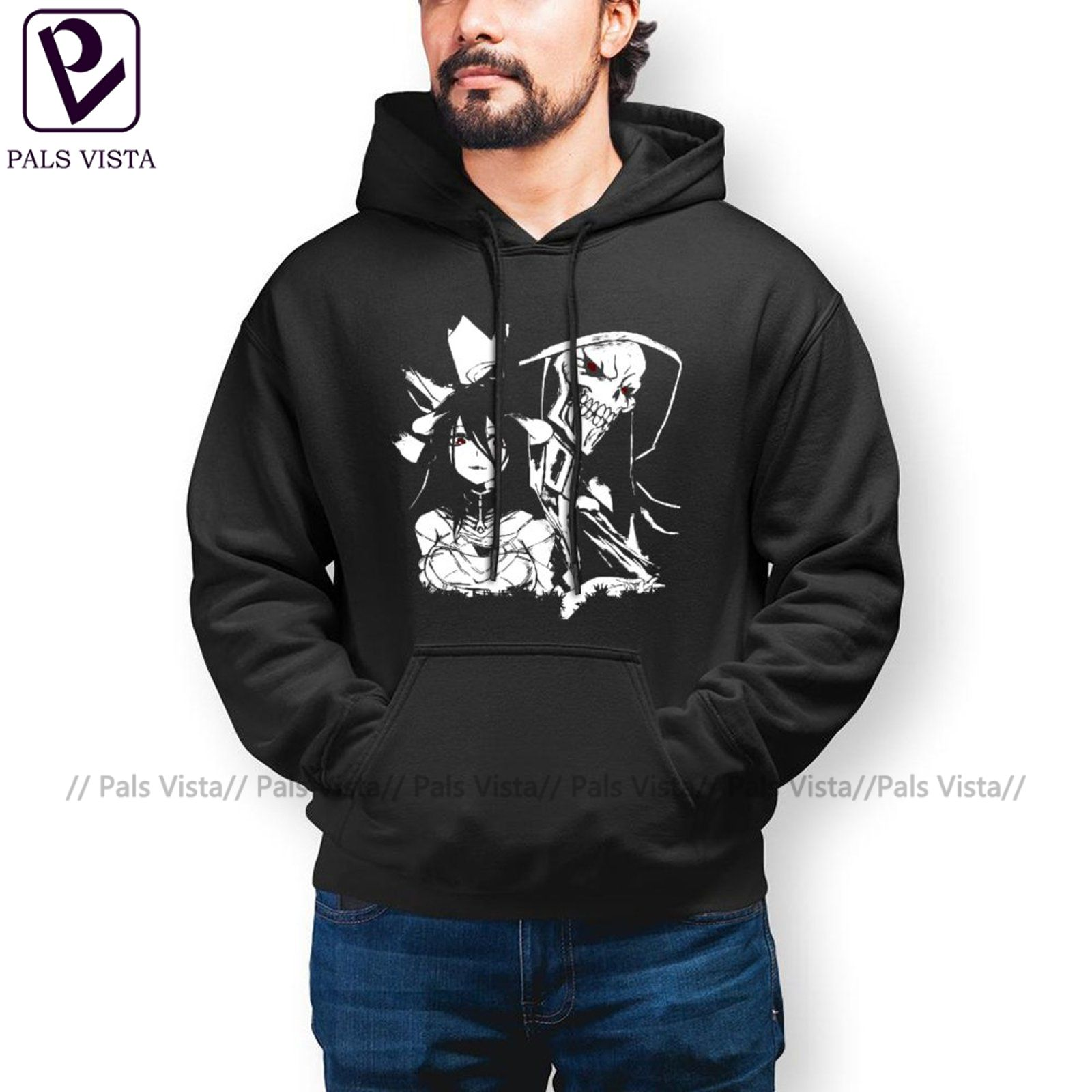 Autumn Overlord OVERLORD One Hoodies Cotton Outdoor Pullover Hoodie Long Length Stylish Hoodie Oversized Men