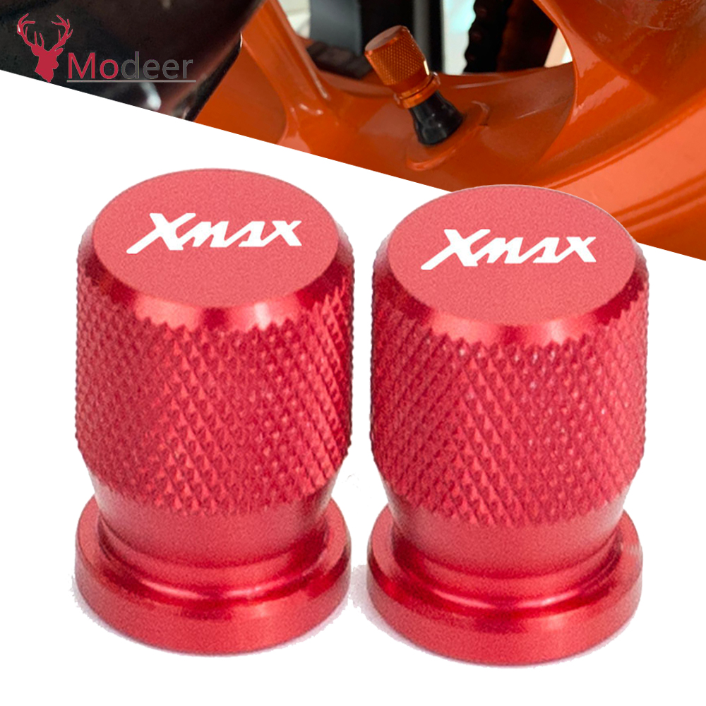 For <font><b>YAMAHA</b></font> <font><b>XMAX</b></font> <font><b>125</b></font> 250 300 400 X MAX 2017-2020 Motorcycle Accessories Wheel Tire Valve caps CNC Aluminum Airtight Covers X-MAX image