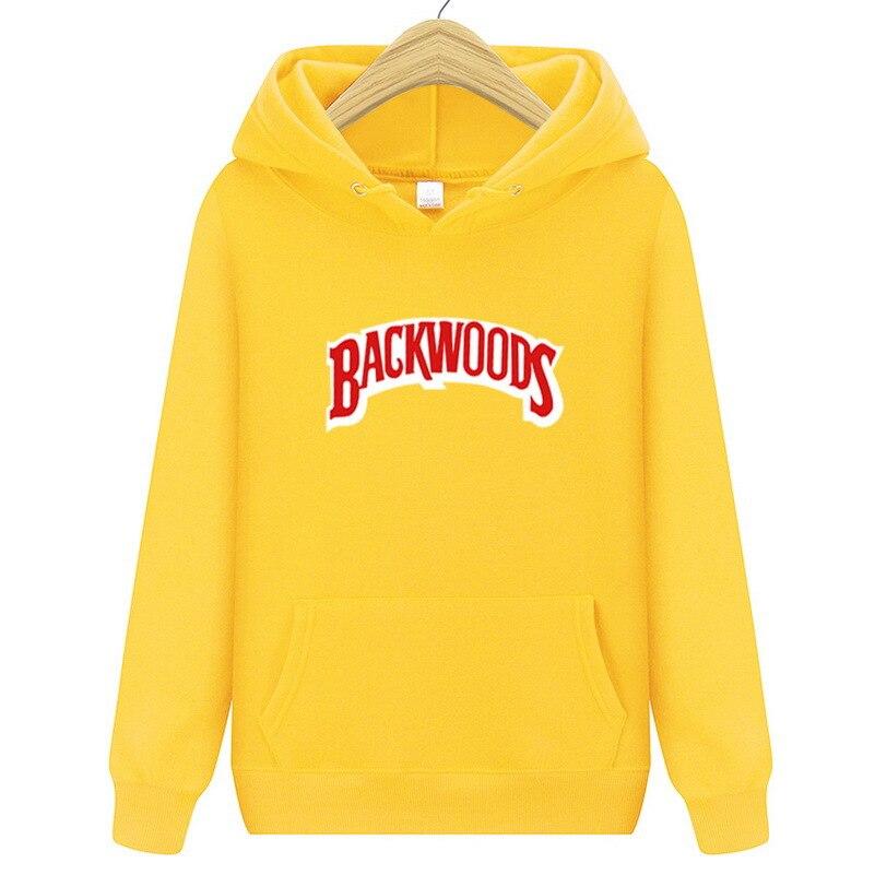 New Autumn Men Women Hoodies Backwoods Hoodie Sweatshirt Long Sleeve Solid Color Hooded Winter Hip Hop Hoodie Pullover Casual