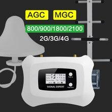Amplificateur de Signal gsm 2g 3g 4g, répéteur réseau de téléphonie mobile 900 800 1800 AGC MGC 70db