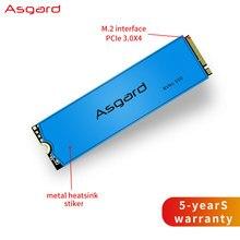 Asgard disco rígido interno m.2 m2 pcie nvme, 1tb 2tb unidade de estado sólido, 2280 disco rígido para computador portátil cache