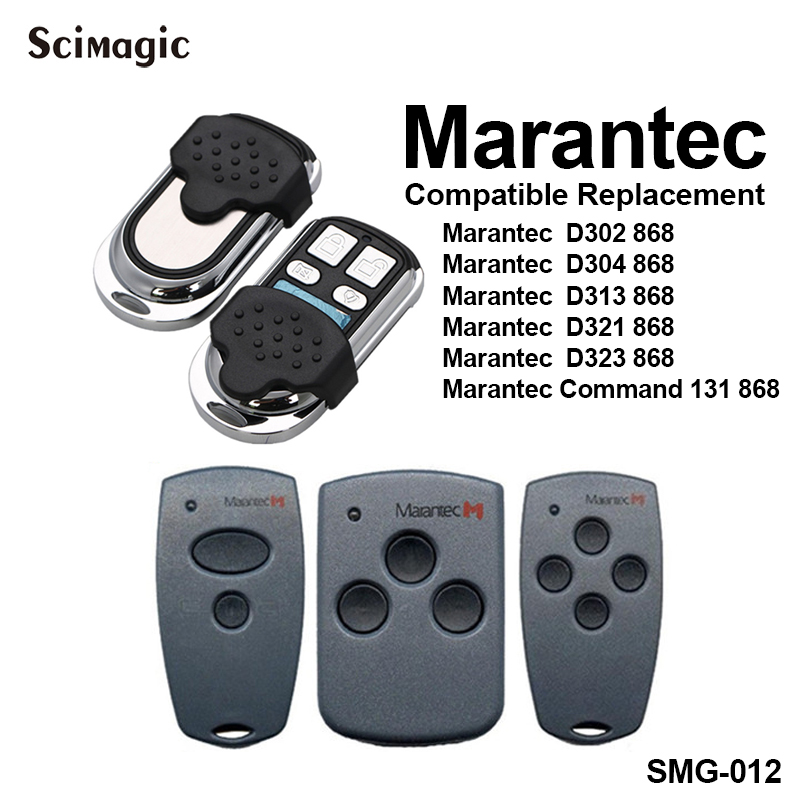 Marantec Garage Door Remote Control 868.3MHz Marantec Digital 302 304 321 323 382 384 Gate Control Garage Command 868 MHz Opener