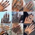 Tocona богемные женские античные серебряные кольца в стиле бохо индийские ювелирные изделия винтажные кольца средней длины для костяшек набо...