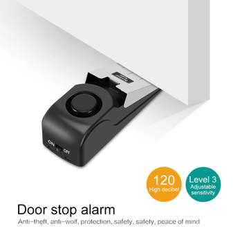 Holiday House Alarm-Block Stopper-Alert Door-Stop Security-System Home Wireless Triggered Vibration 1