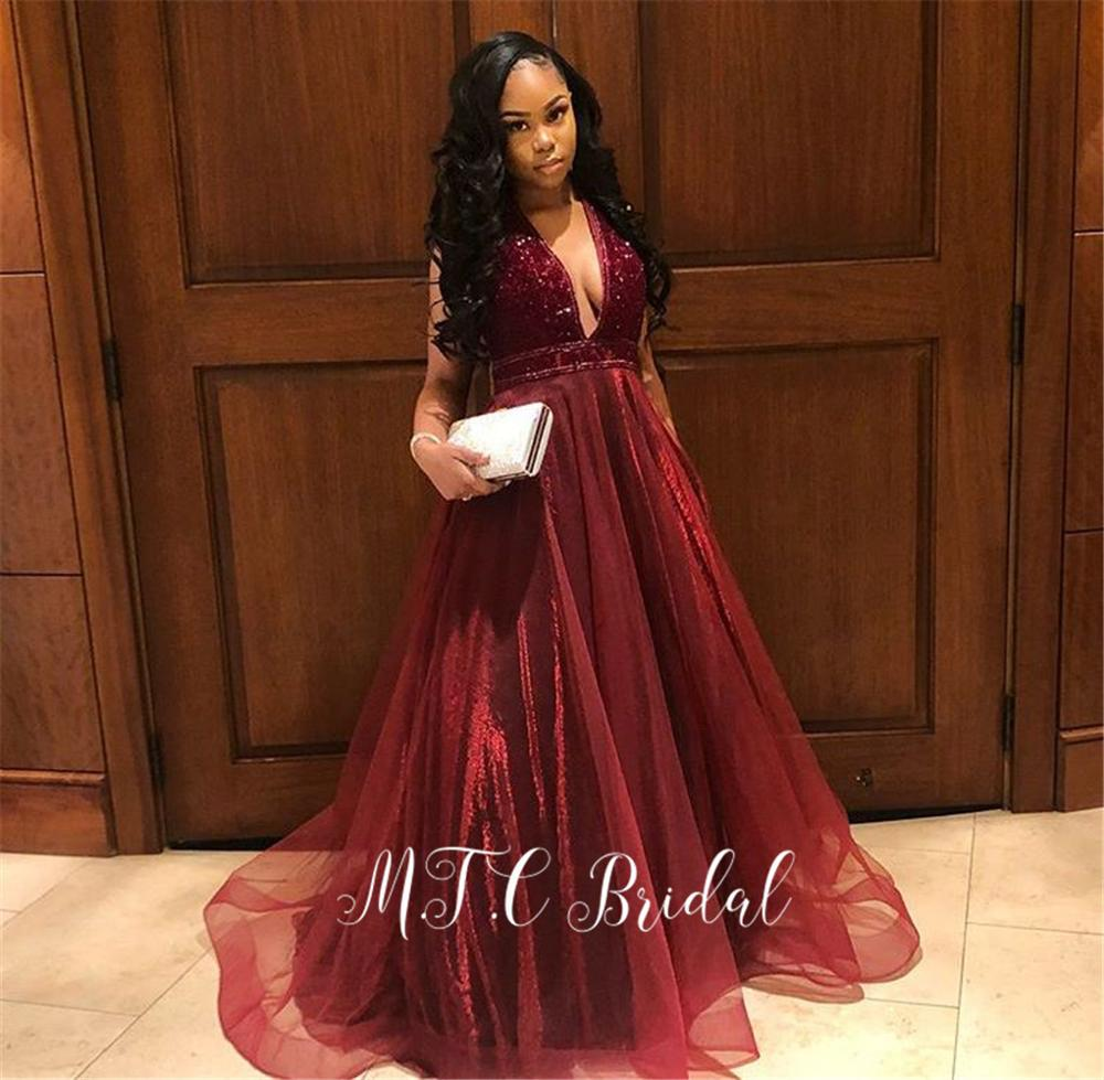 Dark Green African   Prom     Dresses   V Neck A Line Long Organza Evening Party Gowns 2019 Gorgeous Women Special Occasion   Dress   Cheap