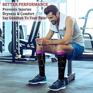Мужские профессиональные Компрессионные носки, дышащие спортивные носки для путешествий, подходят для медсестер, носки для путешествий