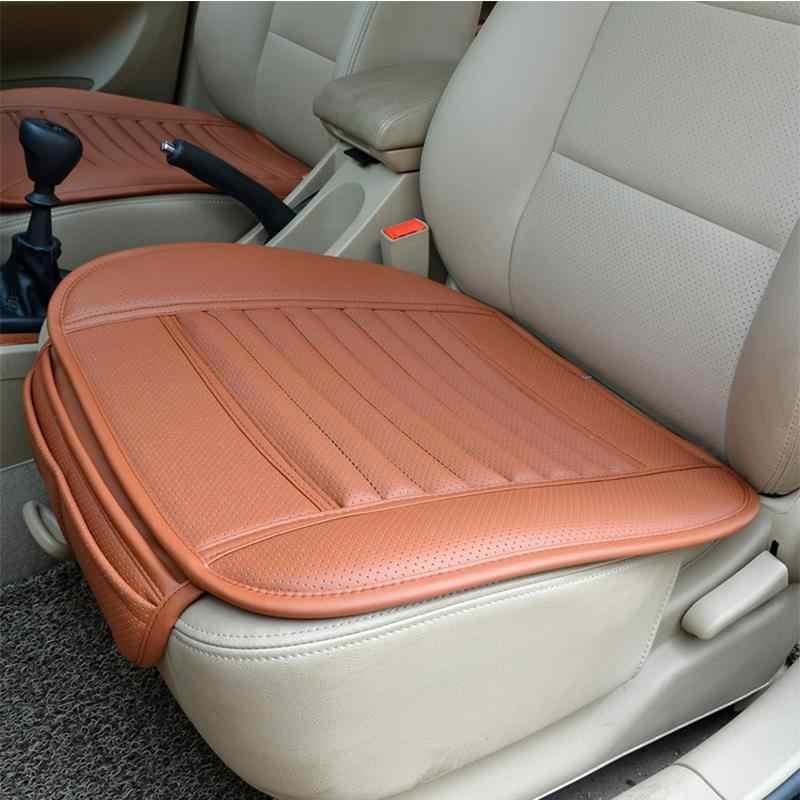 Adeeing シートカバーの通気性 PU レザー竹炭カーインテリアクッションパッドオート用品オフィス Chairr30