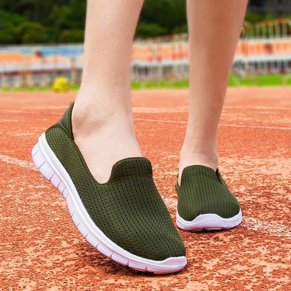 경량 플랫 신발 여성 운동화 여성 통기성 로퍼 숙녀 신발 바구니 Femme Zapatillas Mujer Casual Chaussure Femme
