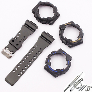 Image 5 - Watch accessories for Casio resin strap G SHOCK GA GLS GD 110 100 120 pin buckle 16mm mens and womens rubber sports watch case
