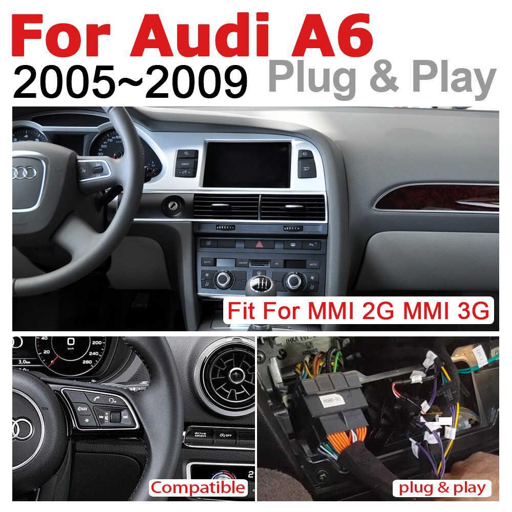 Cho Xe Audi A6 4F 2005 ~ 2009 Mmi 2G 3G Rmc Phát Thanh Xe Hơi 2 DIN GPS Android Điều Hướng máy Nghe Nhạc Đa Phương Tiện Màn Hình Cảm Ứng Sợi Bộ Giải Mã