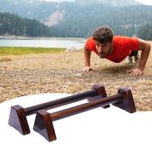 25/40cm de madeira push up stands handstand suporte equilíbrio barra paralela corpo construção casa offcie fitness empurrar para cima stands equipamentos
