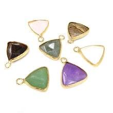 2 шт треугольные полудрагоценные камни натуральные подвески