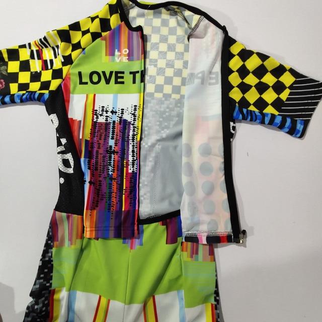 Amor a dor masculina ciclismo, skinsuit de triatlo, speedsuit de manga curta, macacão esportivo para corrida #02, 2020 4