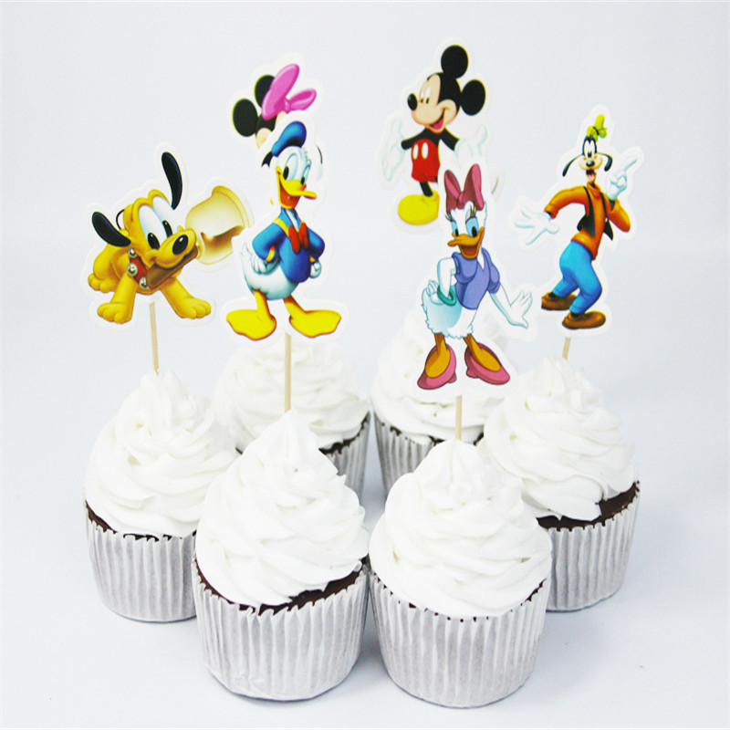 Remarkable Mickey Minnie Mouse Cake Toppers Kids Birthday Party Decorations Funny Birthday Cards Online Necthendildamsfinfo