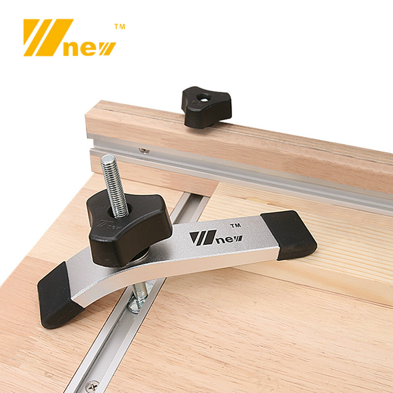 Woodworking Saw Table Metal Quick Acting Hold Down Clamp Set For T-Slot T Track Wood Work DIY Tools