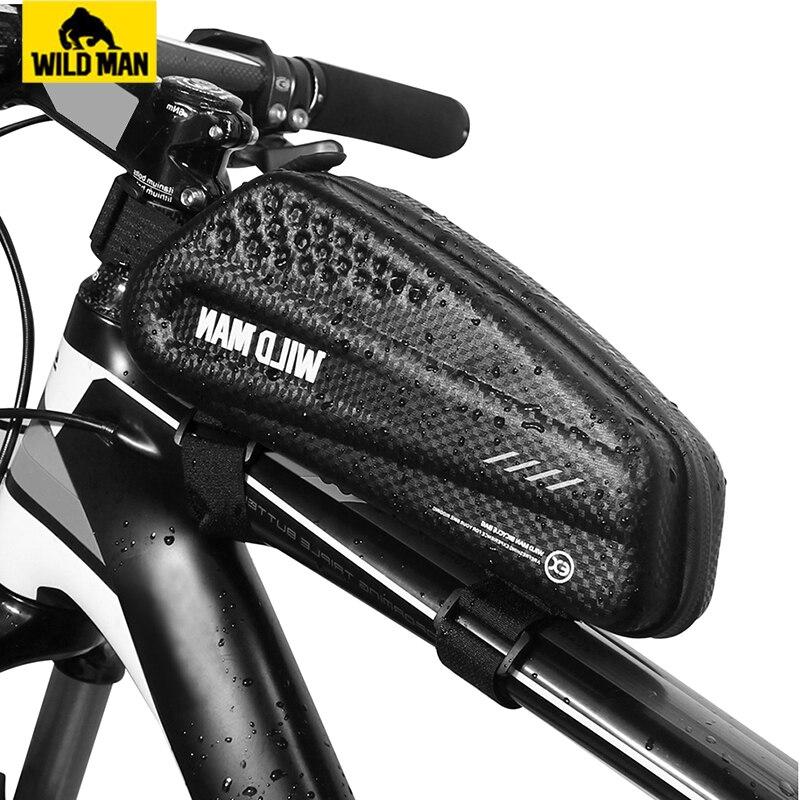 HOMEM SELVAGEM Mountain Bike Saco Tubo Alforje Saco de Bicicleta À Prova de Chuva À Prova D' Água Superior Ciclismo Frente Saco Quadro Mtb Accesorios