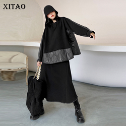XITAO Vintage Casual Women Sets Winter Tide Fashion New Casual  Style O Neck Collar Long Sleeve Elastic Waist Elegant DZL2320