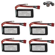 7.4 V 2200mah bateria Lipo dla XINLEHONG 9125 zabawki zdalnie sterowane części zapasowe do samochodów 9125 baterii XLH zmodernizowane 7.4 V 1600 mah 1-5 sztuk