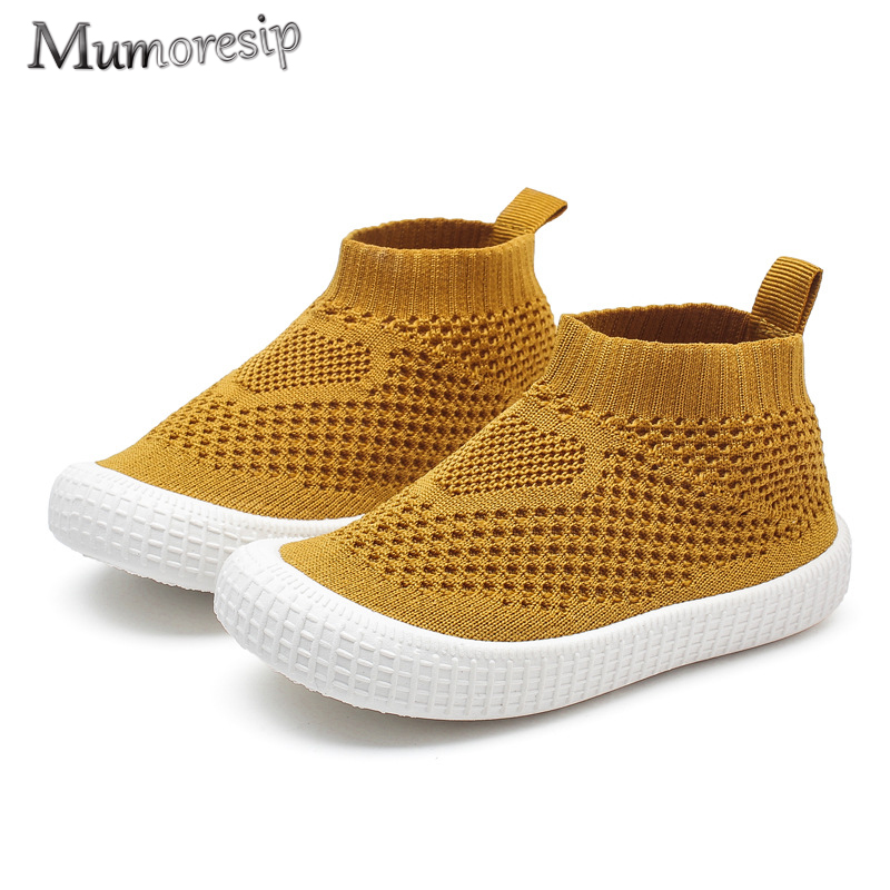 2019 New Spring Autumn Children Shoes Kids Casual Sneakers For Toddlers Boys Girls Candy Color Sock Shoes Slip-on Sports Shoes