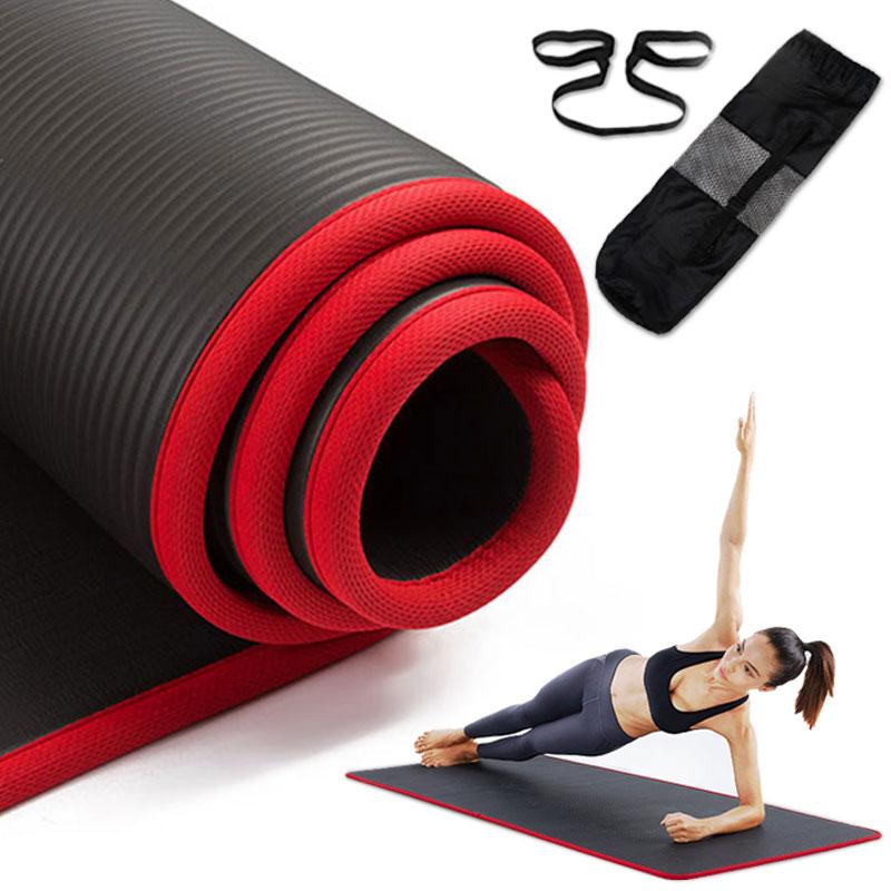Yoga-Mat Fitness Non-Slip Esterilla Pilates Sports Thickened 10mm NBR NBR