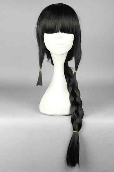 Suyushun3448096 + + Dua Ekor Kuda Hitam Klasik Lucu Nasib Poni Akatsuki Cosplay Wig