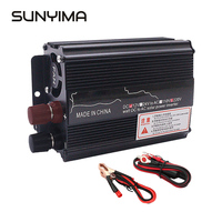 SUNYIMA 500W DC 12V 24V To AC 220V Modified Sine Wave Portable Car Power Inverter Adapater Charger Converter Transformer For Car