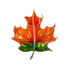 2019 Broche Enamel Pin Japan And South Korea Version Of Retro Transparent Drip Maple Leaf Contracted Brooch Only Cy141 Collar(China)