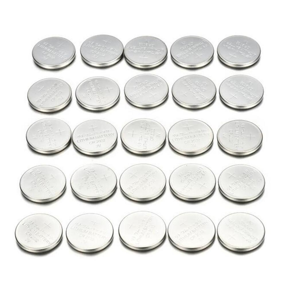 25PCS CR2032 CR 2032 3 Volt Button Cell Coin Battery For Toys Watch Remote #BO