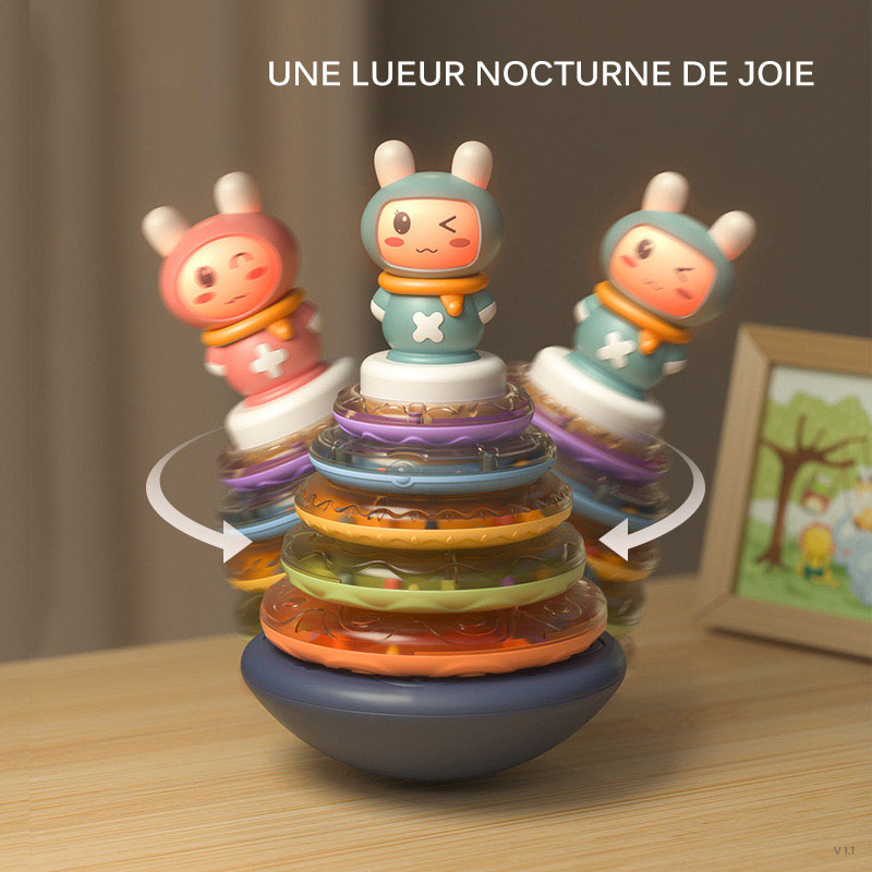 Toy Stacking Rings Tumblers Baby Music Sound Toys Circle Tumblers Baby Toy Rainbow Rainbow Rings Tower Tumbler Infant Gift Toy