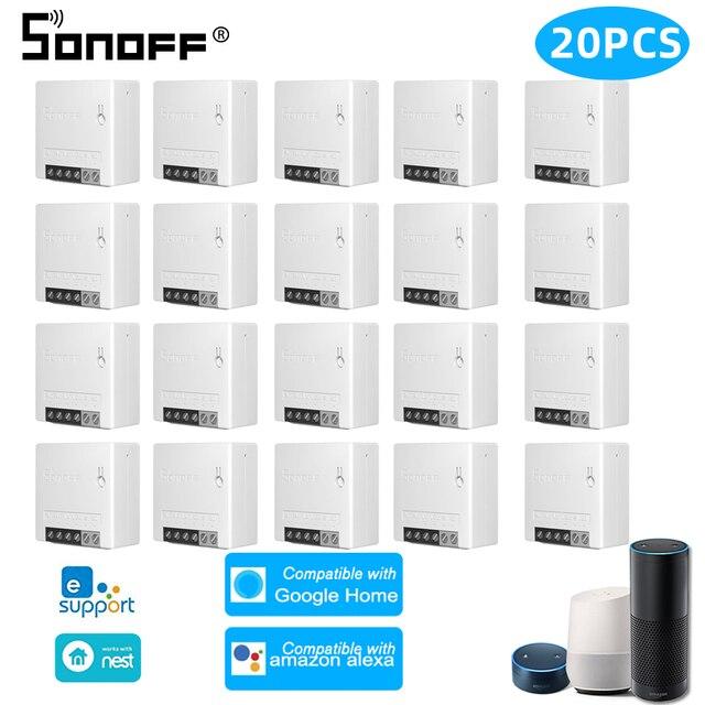 1/30 PCS Sonoff מיני Wifi מתג R2 DIY שני דרך חכם מתג ממסר מודול מתג אלחוטי חכם בית אוטומציה עבודה עבור eWelink