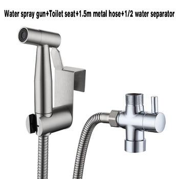 304 Stainless Steel Toilet Hand  Bidets  Faucet  Home Wash Bidet Sprayer Set Accessories Multifunction Kitchen Toilet Cleaning - EU Size