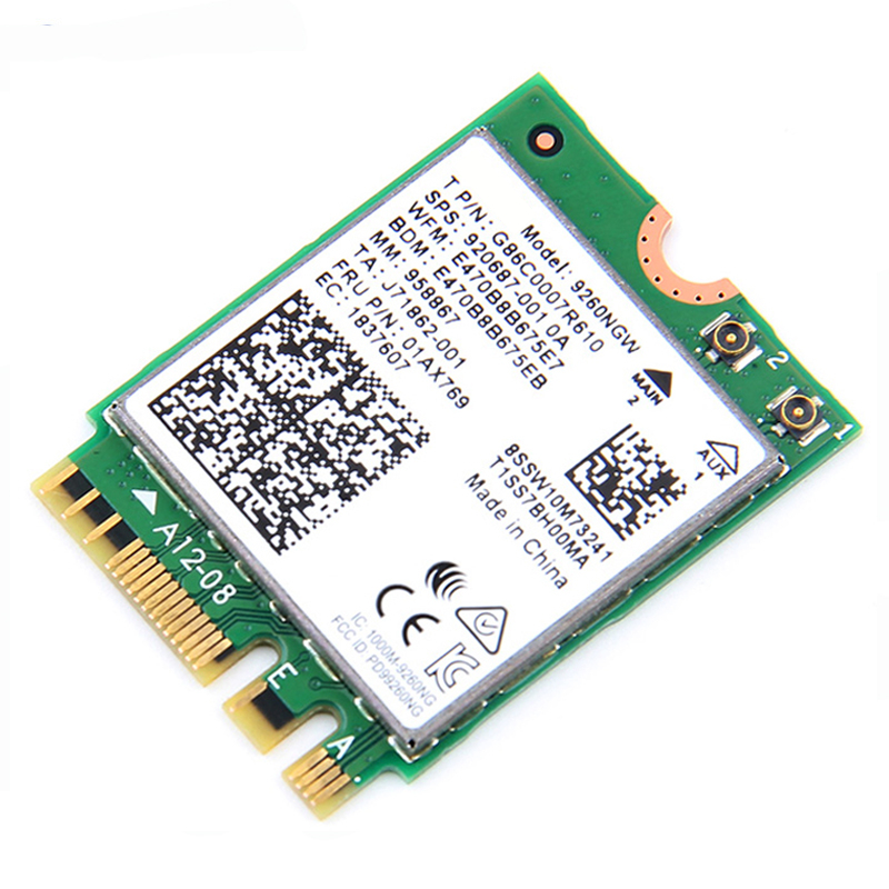 Image 5 - 1.73Gbps Wireless Card NGFF Network Card For Intel 9260 2.4G/5Ghz 802.11ac  Bluetooth 5.0 for Laptop Windows 10wifi network cardnetwork cardwifi network -